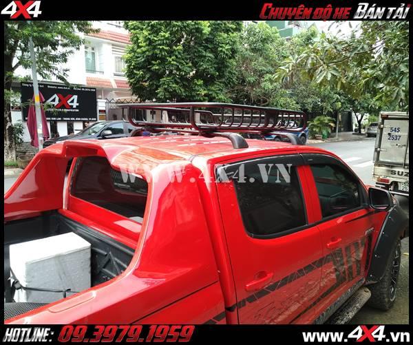Hình ảnh: baga mui xe bán tải độ và bộ vè che mưa