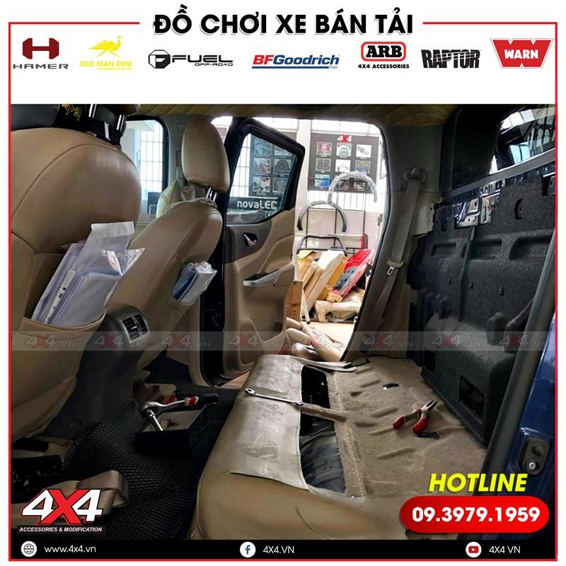 Độ ghế chỉnh điện cho xe bán tải Nissan Navara thêm hiện đại và tiện nghi