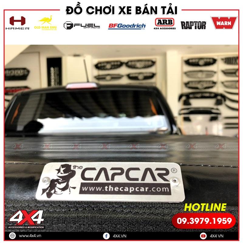 Nắp bạt cuộn mềm Capcar độ gọn nhẹ và tiện lợi cho xe bán tải Ford Ranger