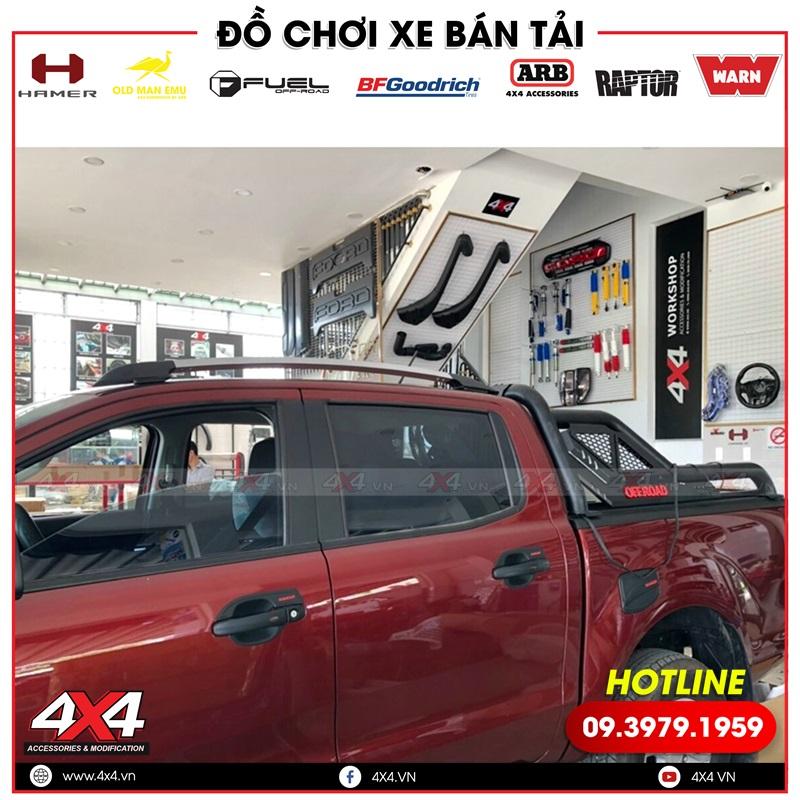 Xe bán tải Ford Ranger độ thanh thể thao Option Roll, thanh giá nóc wildtrak đẹp chất và cứng cáp
