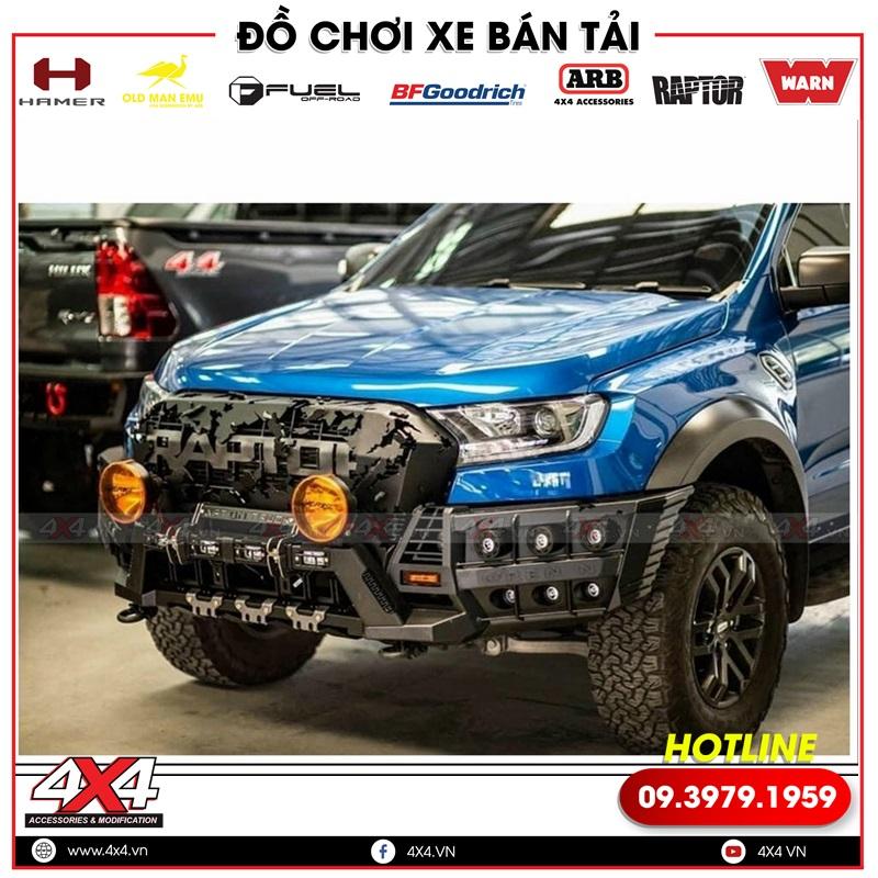 Cản trước Open N Thái Lan độ chất và ngầu cho xe bán tải Ford Ranger Raptor