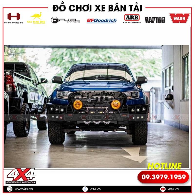 Xe bán tải Ford Ranger Raptor độ chất và ngầu với cản trước Open N đẹp và đẳng cấp