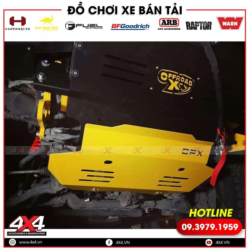 Xe bán tải độ giáp gầm OFX giúp bảo vệ gầm xe