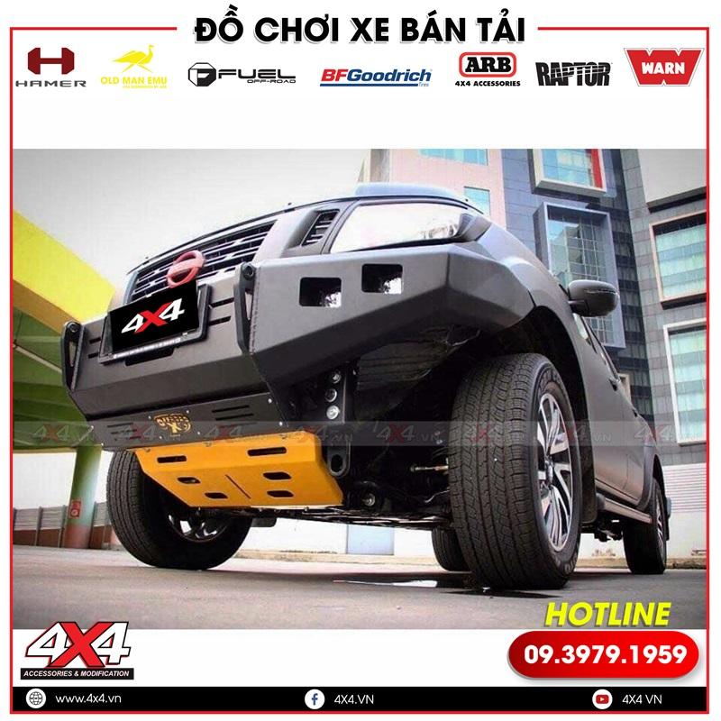 Ốp giáp gầm độ bảo vệ gầm xe bán tải Nissan Navara