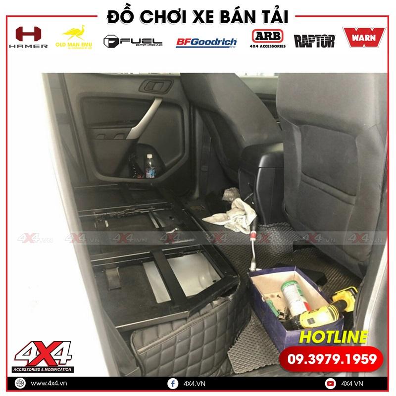 Bộ ghế trượt chỉnh điện dành cho xe bán tải Ford ranger được điều chỉnh dễ dàng chỉ với 1 nút nhấn