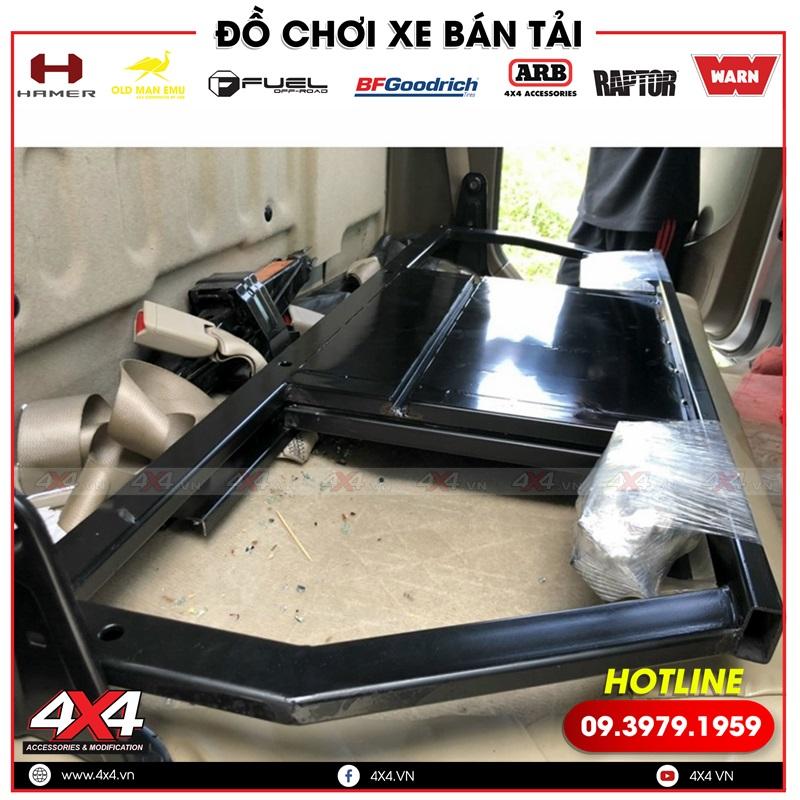 Ghế chỉnh điện trượt ngã 45 độ dành cho xe bán tải Nissan Navara