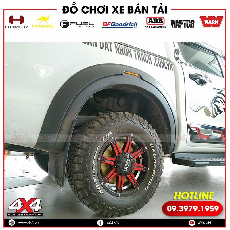 Mâm lốp độ và ốp cua lốp độ đẹp dành cho xe bán tải Ford Ranger