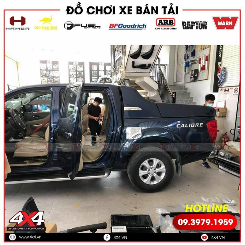 Độ hàng ghế sau chỉnh điện cho xe bán tải Nissan Navara