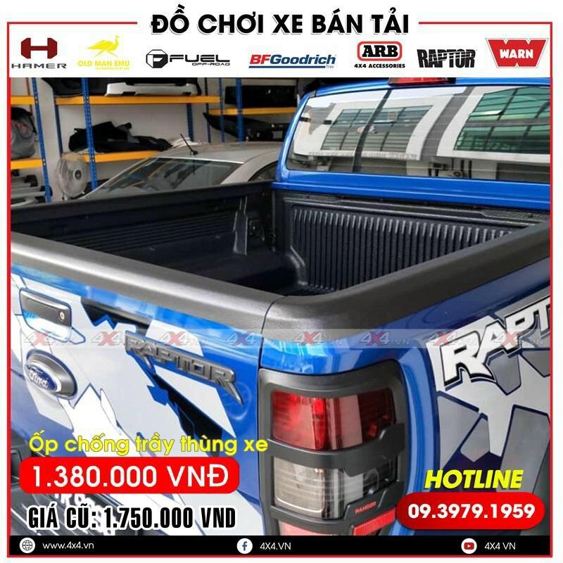 Ốp chống trầy thùng xe dành cho xe bán tải Ford Ranger