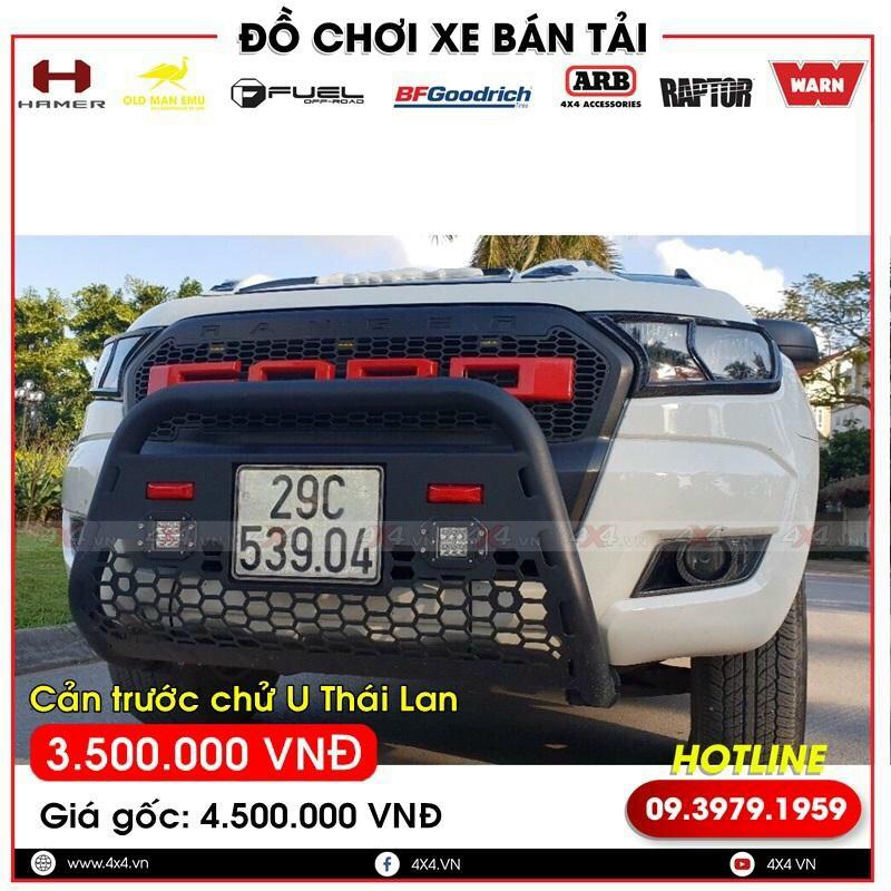 Cản trước chữ U Thái Lan độ đẹp và đẳng cấp dành cho xe bán tải Ford Ranger