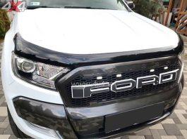 Xe Ford Ranger màu trắng gắn mặt calang Ford Ranger màu đen sọc trắng đẹp